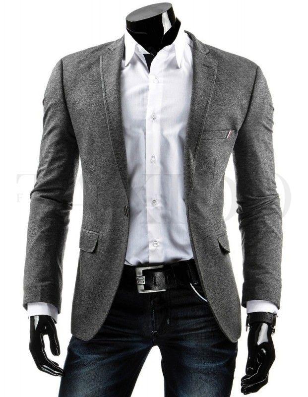 Pánské stylové sako - Manolo, šedé