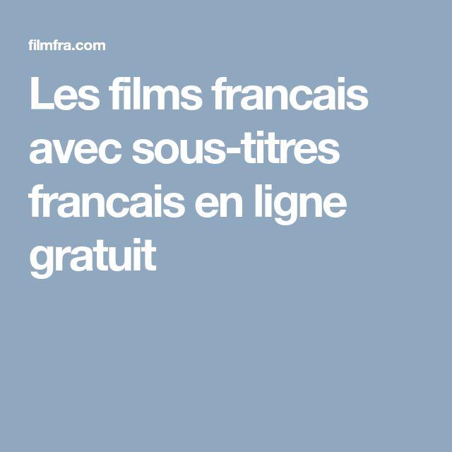 Favori Les 25 meilleures idées de la catégorie Sous titres francais sur  SS85