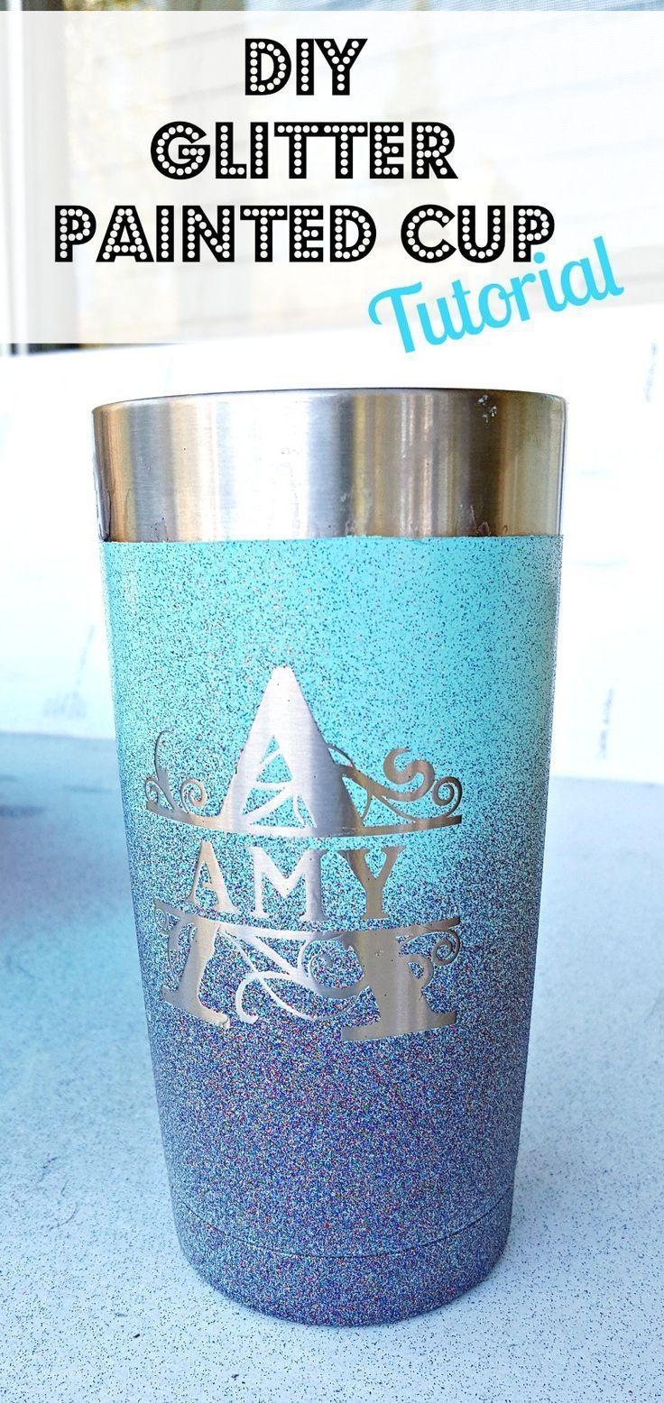 A step by step tutorial on how to spray paint a yeti or Ozark stainless steel mug. Love the ombre effect!