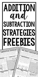Addition and subtraction  strategy parent letter FREEBIE!  The letter even includes an editable area for a teacher note!