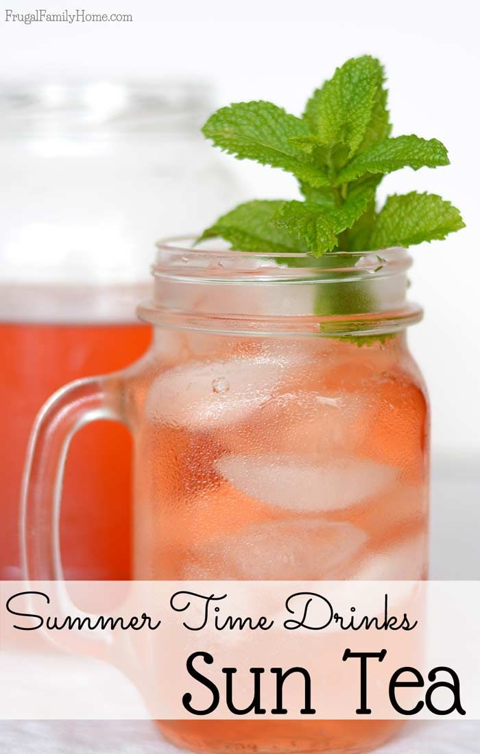 is a great time to make DIY sun tea. If you've never made sun tea ...