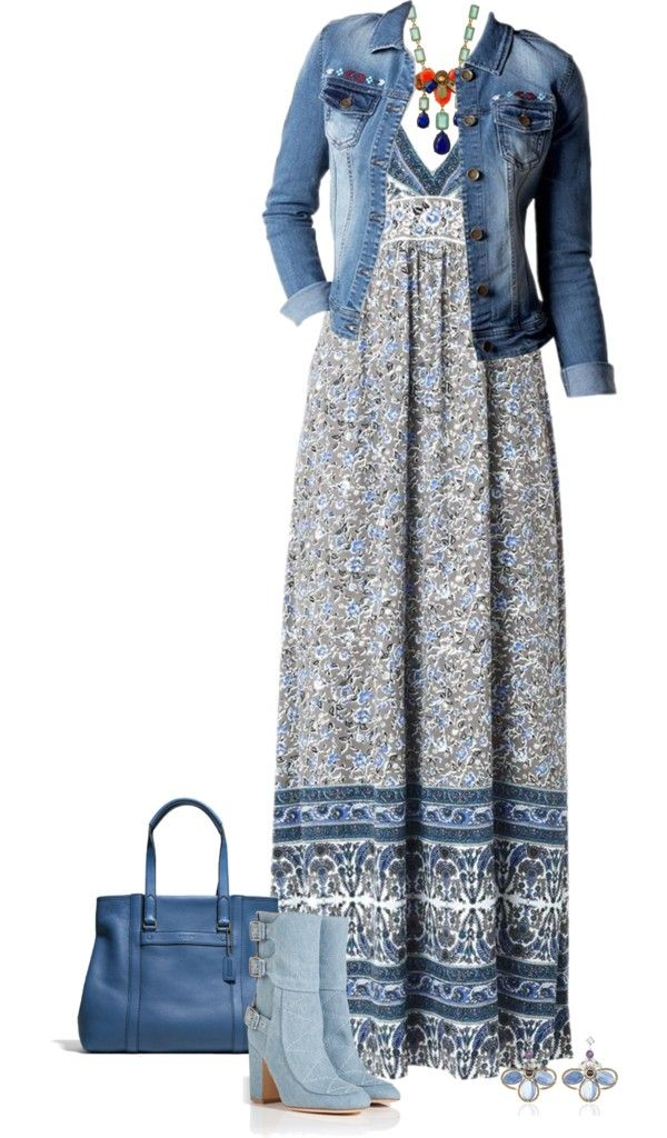 Spring Outfits Floral-Print Maxi Dress