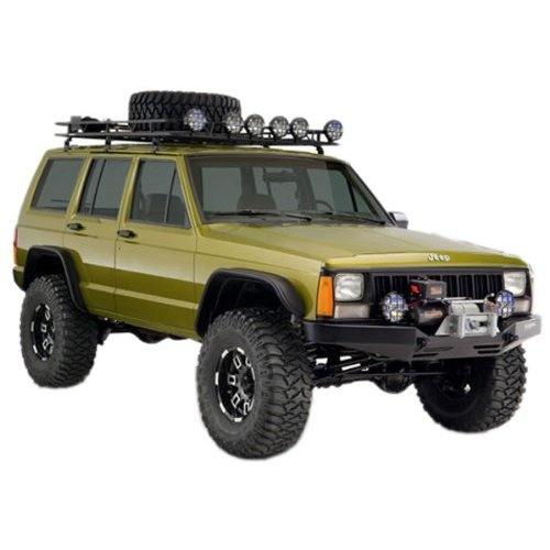Jeep Cherokee XJ Bushwacker Flat Style Fender Flare Kit