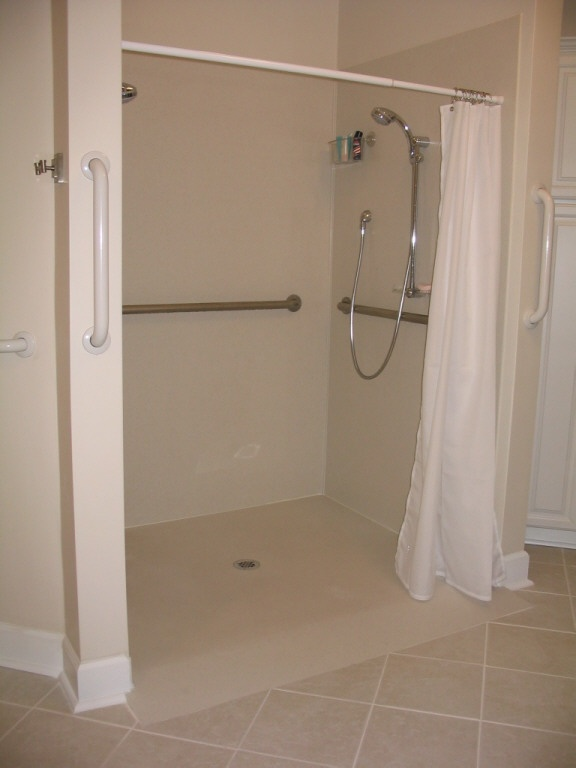 home accessibility products shower pan (ramp up) (the water runoffhome accessibility products shower pan (ramp up) (the water runoff might be bad ) acessibility ideas in 2019 disabled bathroom, washroom design,