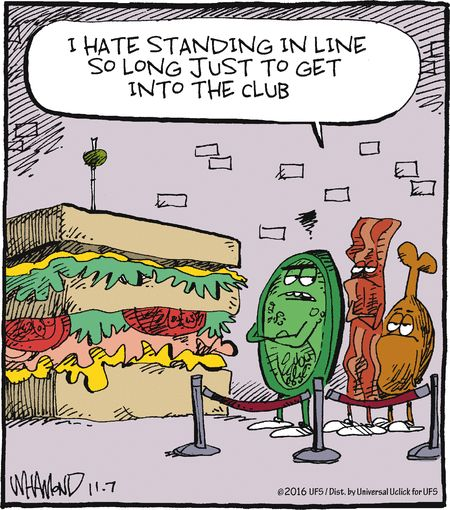 What qualifies something to be a club sandwich ingredient? So asks this #RealityCheck #comic.  trythisnewrecipe.blogspot.com