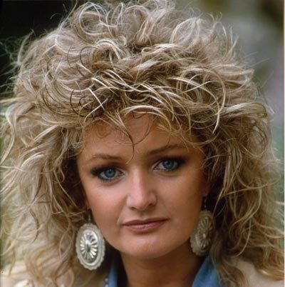 80's hair! I remember how long it would take to get the hair to do this and how much hair spray!