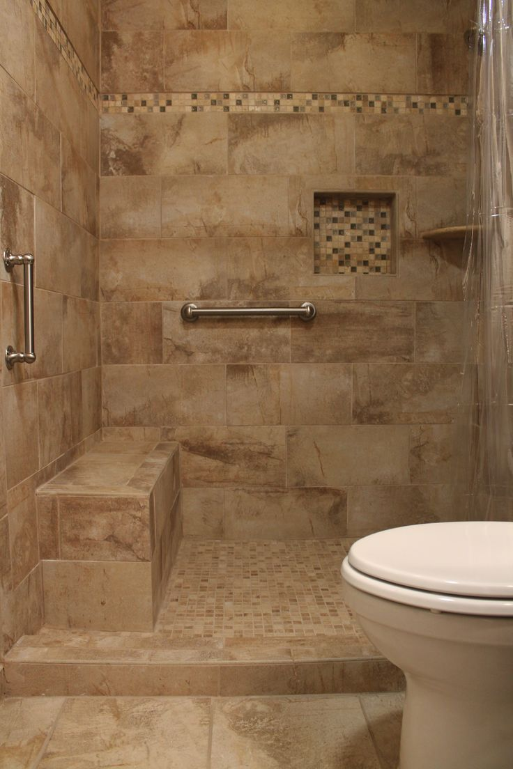 bathroom tiles mosaic border shower design with beige tile and mosaic border accent 16883