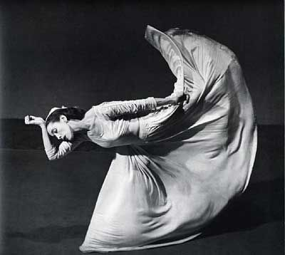 Martha Graham (46) photo taken by Barbara Morgan (1940). Martha danced until she was 76 and choreographed until her death at 96.