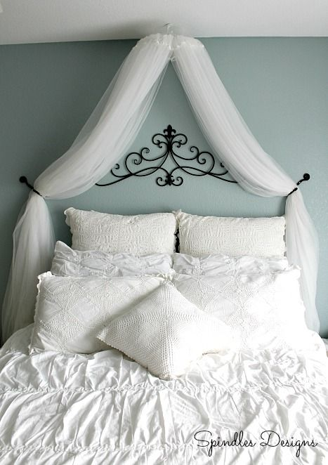 Spindles Designs by Mary & Mags: DIY Bedroom Canopy