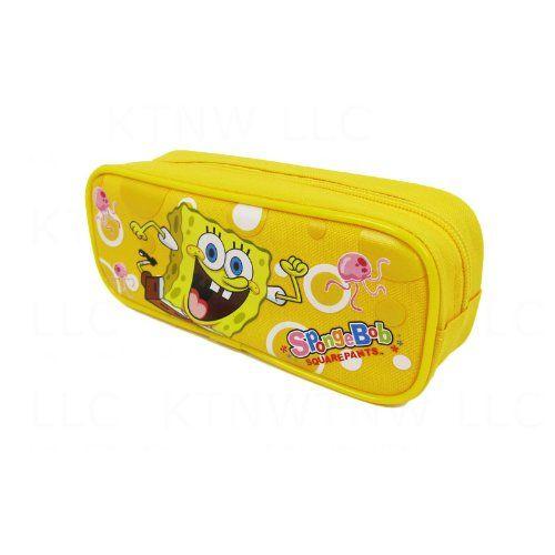 Officially Licensed SpongeBob Squarepants Single Zipper Pouch Pencil Case - SpongeBob and Jellyfish @ niftywarehouse.com #NiftyWarehouse #Spongebob #SpongebobSquarepants #Cartoon #TV #Show