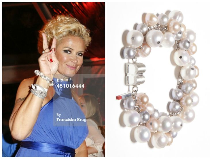 Claudia Effenberg is wearing a SIGNATURE Pearldance Light bracelet from BISAZO (http://www.cliccessory.com/en/collections/bisazo/signature/signature-pearldance-light.html)