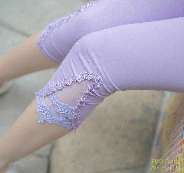 Women Capris Pants Summer New 2017 Plus Size Casual Capris For Women Slim Elastic Cotton Candy Capris Women Lace Pants