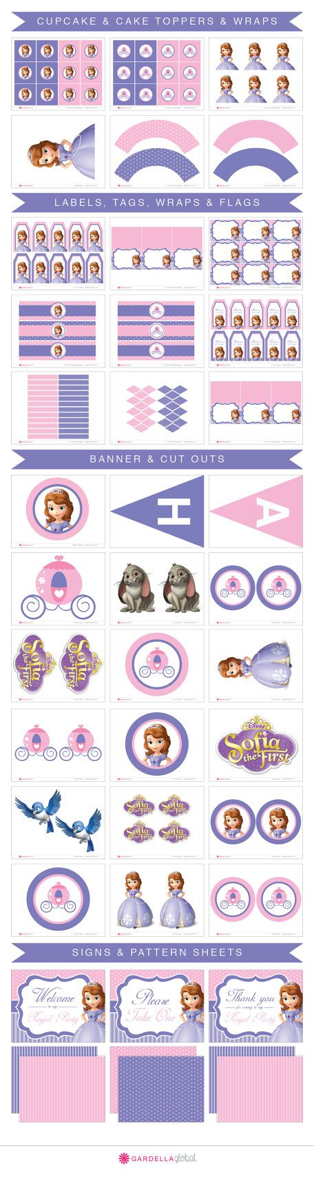 Sofia The First Party Printables