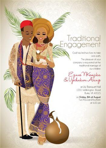 Igbo Traditional Wedding Invitation Card Designs