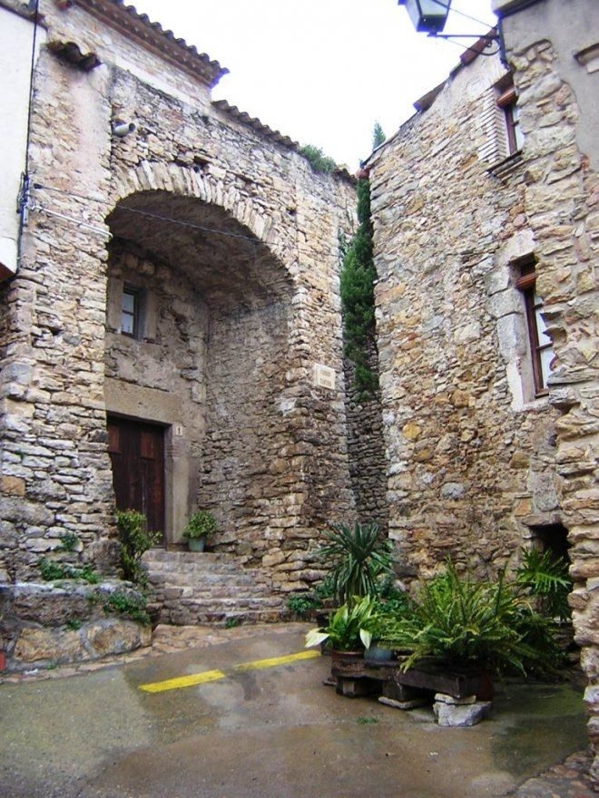 Medieval village of Palau-sator, Baix Empordà - Girona, Catalonia.