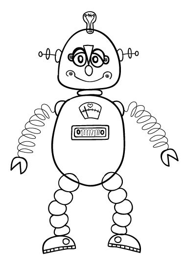 Draw a Robot and other animals