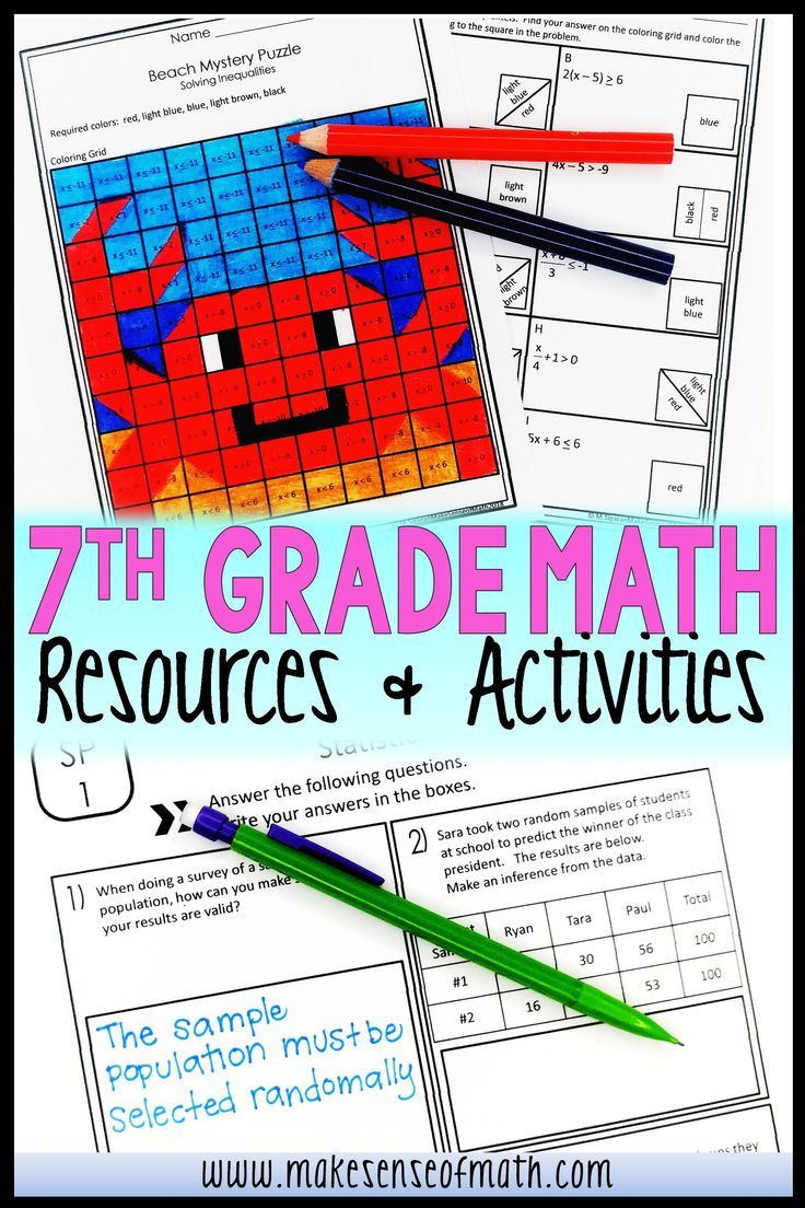 small resolution of Check out these 7th grade math worksheets