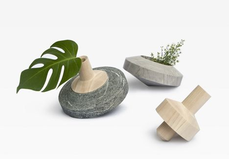 Spinning-top vases