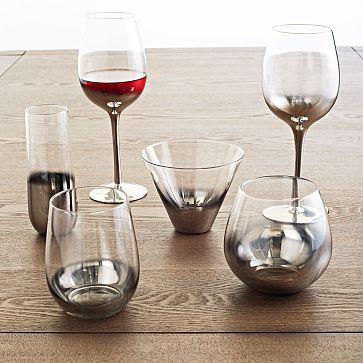 halloween table // Metallic Ombre Glassware Set #westelm