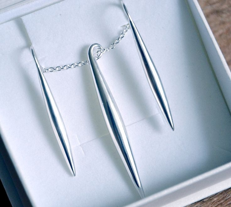 Paletti Jewelry Julie silver hook earrings and necklace @ Uino-blog