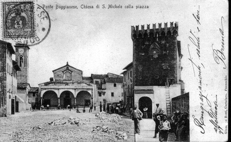 Panoramica della piazza dopo la guerra.