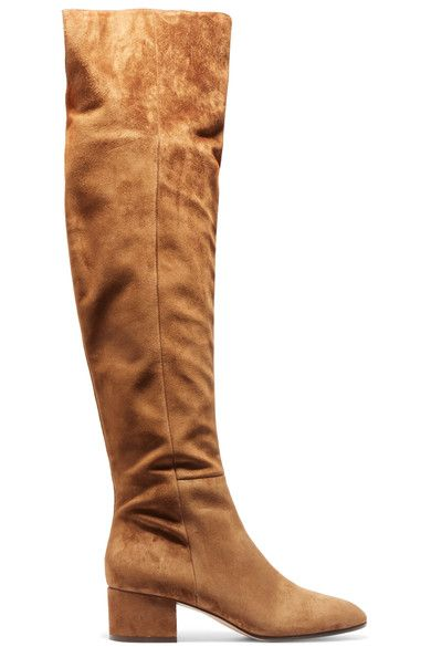 Gianvito Rossi - Suede Over-the-knee Boots - Tan - IT34.5