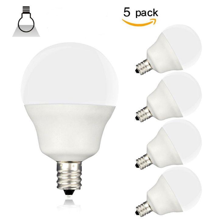5PCS E12 LED Candle Bulb 4W,30W Equivalent ,AC/DC12V Drive,PC milk cover,Round Shap,LED Candle Lamp White Candelabra Bulb source #Affiliate