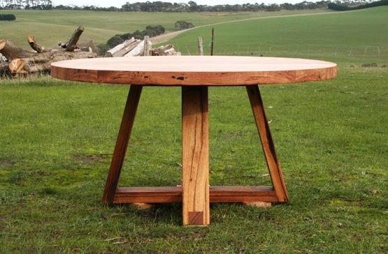 Recycled timber round dining tableMelbourne Blog and Timber