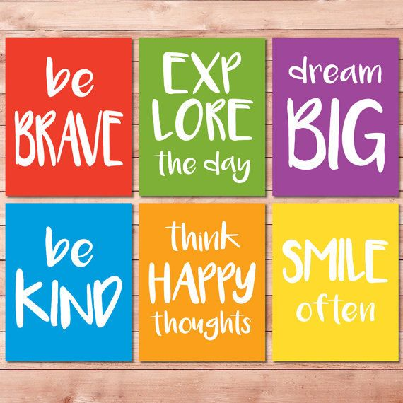 Hey, I found this really awesome Etsy listing at https://www.etsy.com/listing/260997134/motivational-art-print-set-for-kids