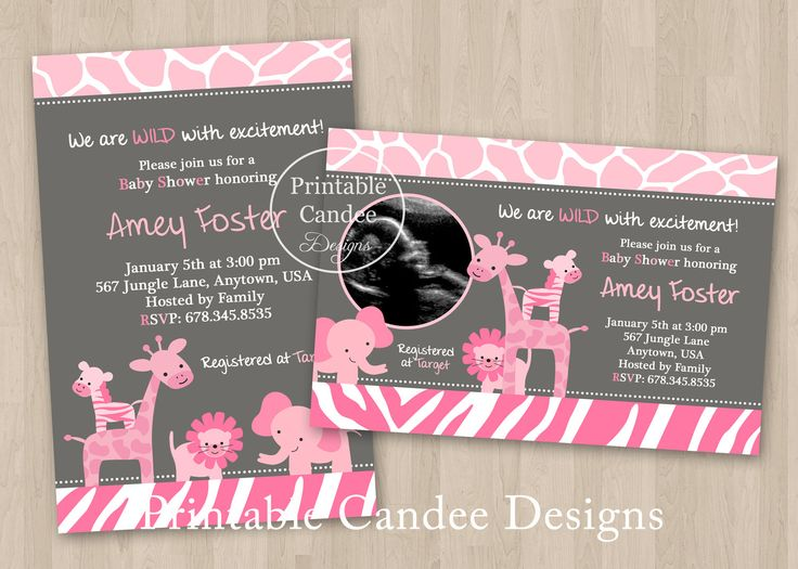 c8fdfec8a24bd5b0fafb11e5b609dfc7 safari baby showers girl shower 17 best images about baby shower invites on pinterest,Girl Jungle Baby Shower Invitations