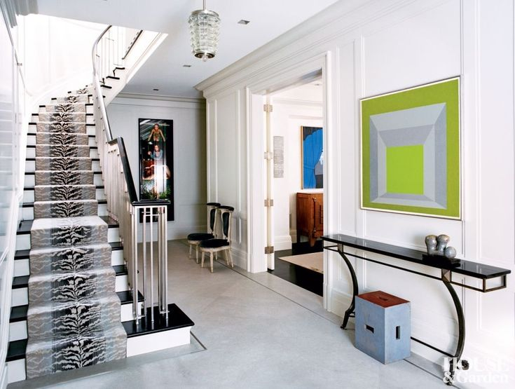 Interiors: New York Duplex By Haynes Roberts. Entry FoyerEntrance HallsWhite  ...