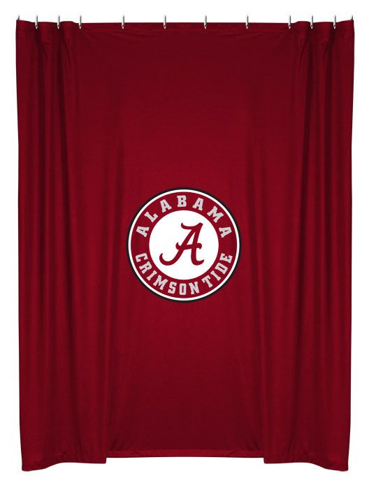 Make your University of Alabama NCAA themed bathroom match your team bedroom with this Alabama Crimson Tide Shower Curtain by Sports Coverage. This NCAA team shower curtains are made from our popular