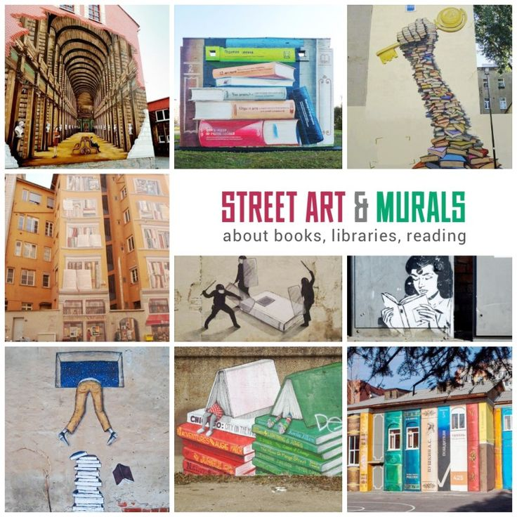 Street art and murals about #books #libraries #reading