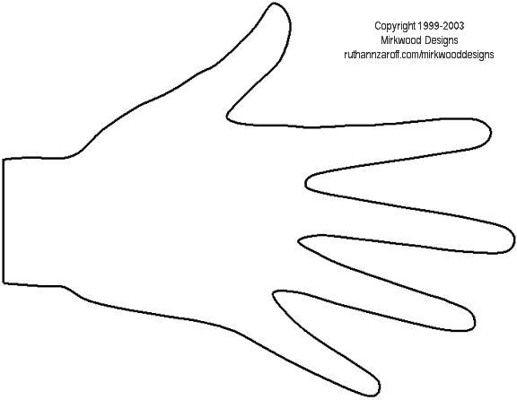 hand templates printables pinterest