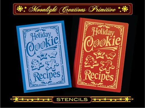 Primitive Stencil-Vintage Style~Holiday Cookie Recipes Book Cover Design | eBay