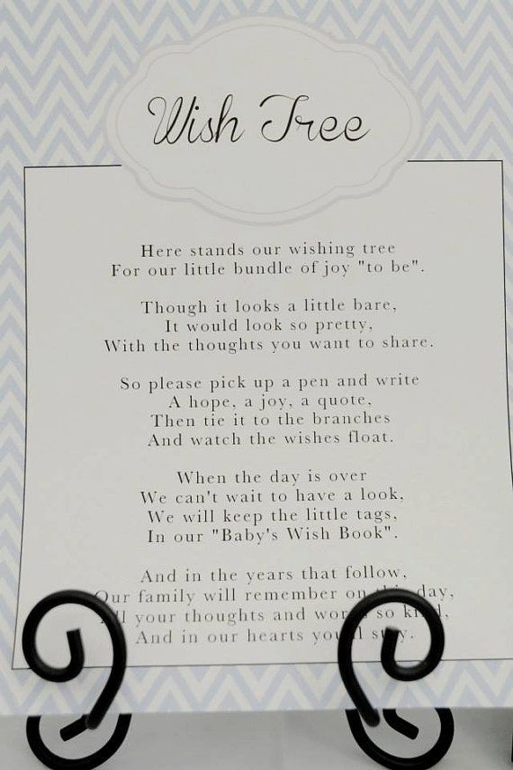Wish Tree Baby Shower Sign by MyWhichCraft on Etsy, $5.00