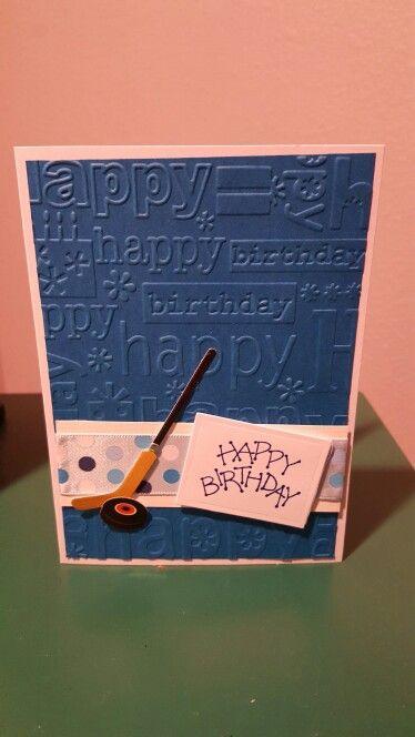 Hockey birthday cards