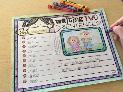 List Writing Extension Activities - Sentence Writing