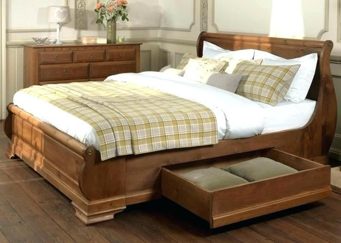 More Click Beds With Drawers Underneath King Size Wood Bed
