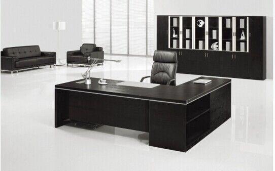 Foto de escritorio de oficina moderno de encargado del negro de la venta al por mayor de los for Escritorios oficinas modernas
