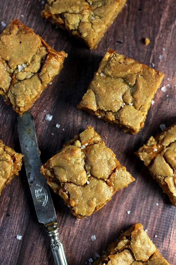 Wicked sweet kitchen: Salted dulce de leche blondies
