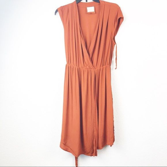 34bd15ca8b32 Maeve Dresses & Skirts - Maeve Anthropologie Noronha Wrap Dress Rust Orange