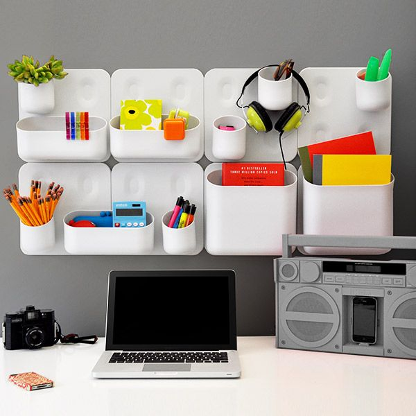 Urbio® Magnetic Modular system....good for organizing office, kitchen, gardening, and maybe even bathroom I'm thinking....