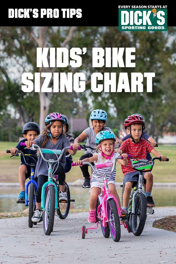 Kids Bike Sizing Chart Kids Bike Bike Fun Sports
