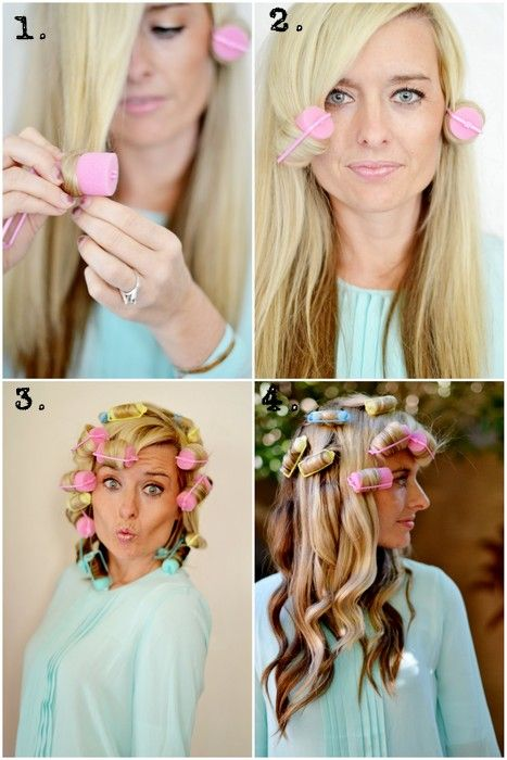 how to get the perfect loose curl using foam rollers. Mom use to put these in my hair all the time! I'm so getting some! So easy   # Pin++ for Pinterest #