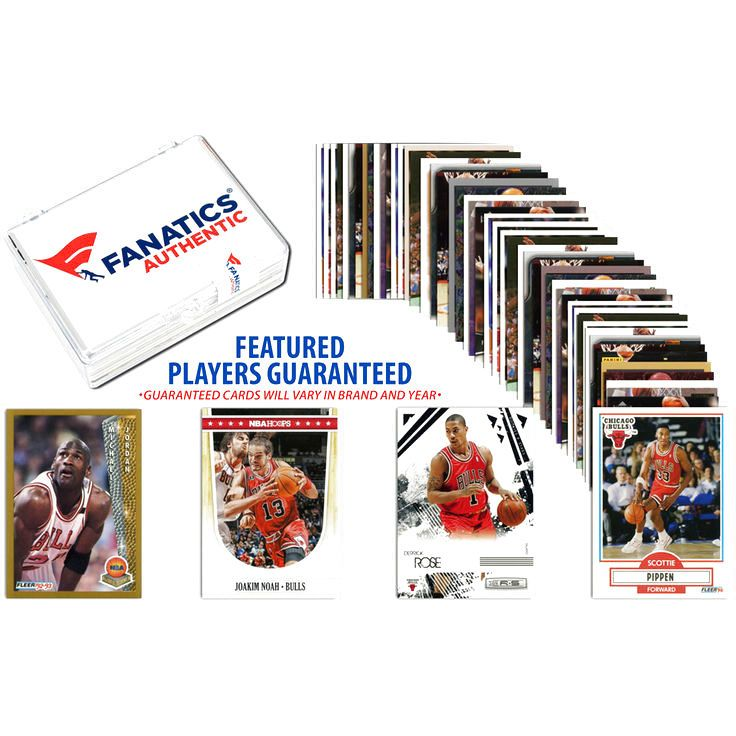 Chicago Bulls Team Trading Card Block/50 Card Lot - $15.99