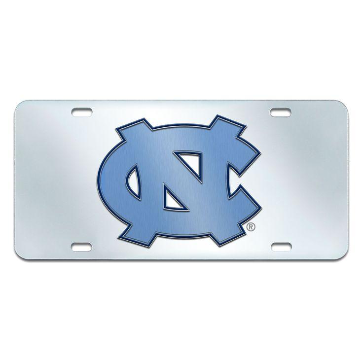 NCAANorth Carolina Tar Heels FanmatsAcrylic Inlaid License Plate Frame, North Carolina Tar Heels