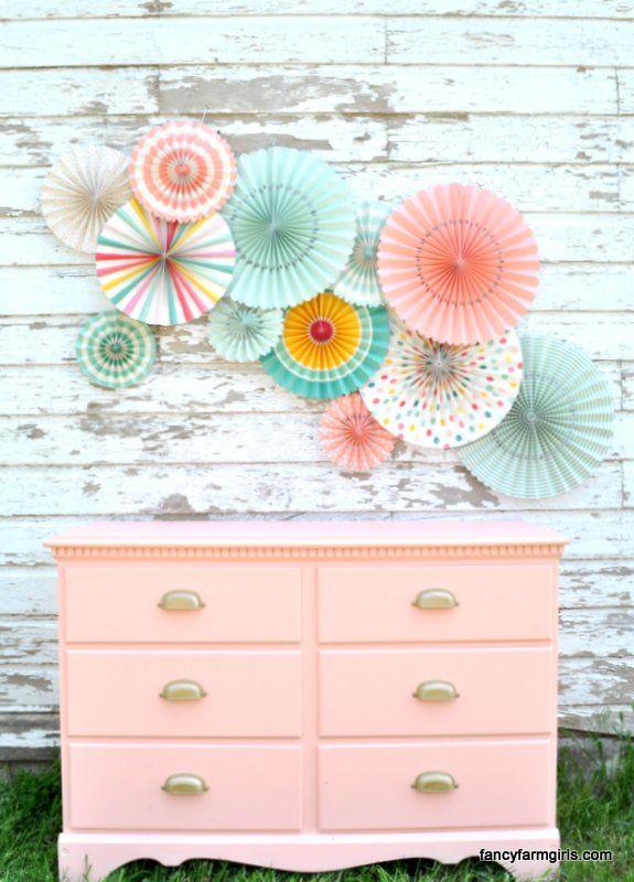 Coral Dresser Makeover!