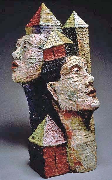 "Cheryl Tall ""City Dwellers"" Ceramic Sculpture"