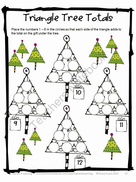 Free Worksheets preschool christmas math activities : 1000+ images about Christmas-Winter on Pinterest | Christmas maths ...